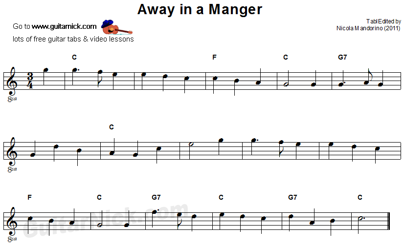 Away In A Manger -  guitar sheet music