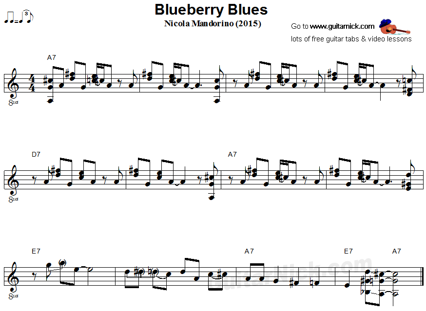 Blueberry Blues - fingerstyle guitar sheet music
