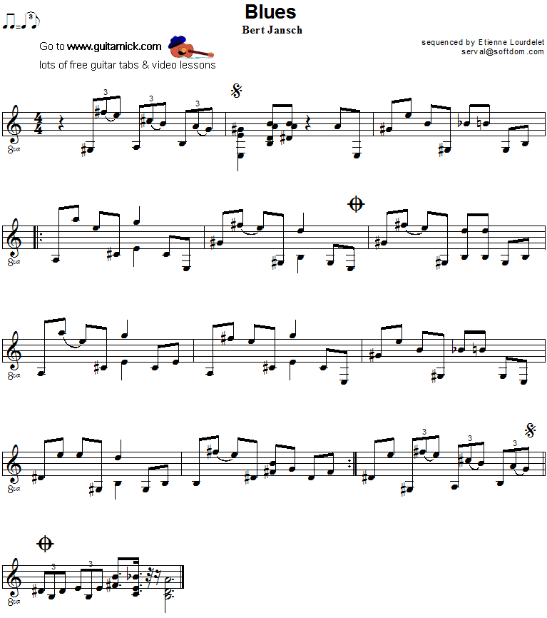 Blues- guitar sheet