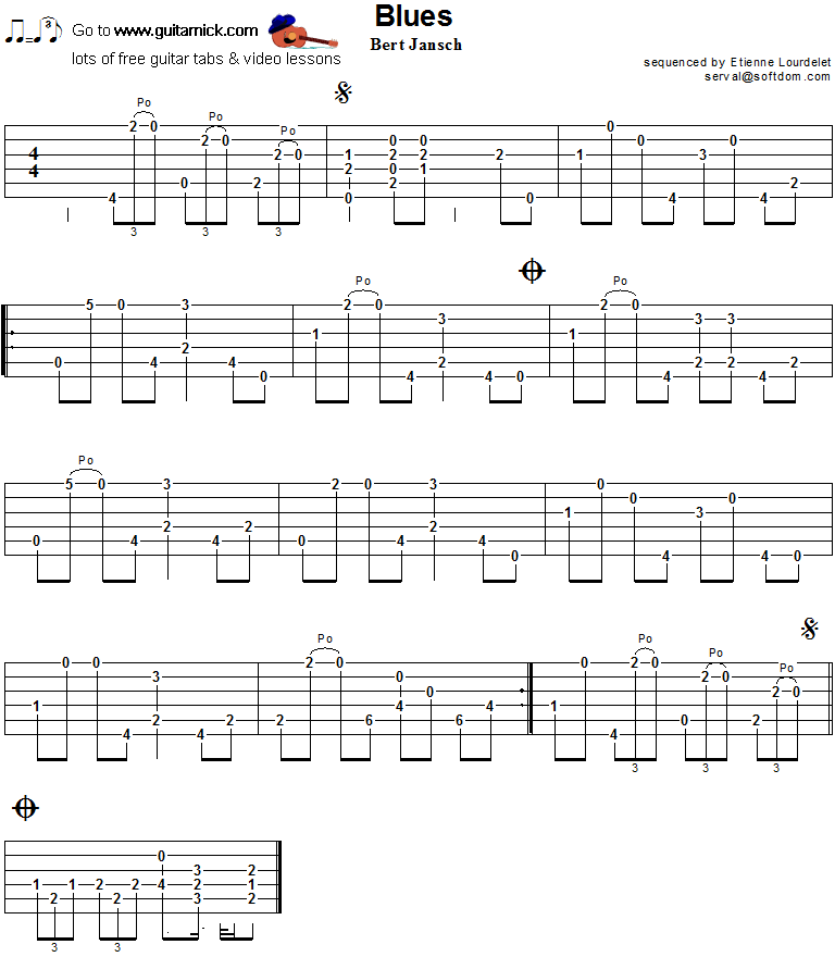 Blues- guitar tab