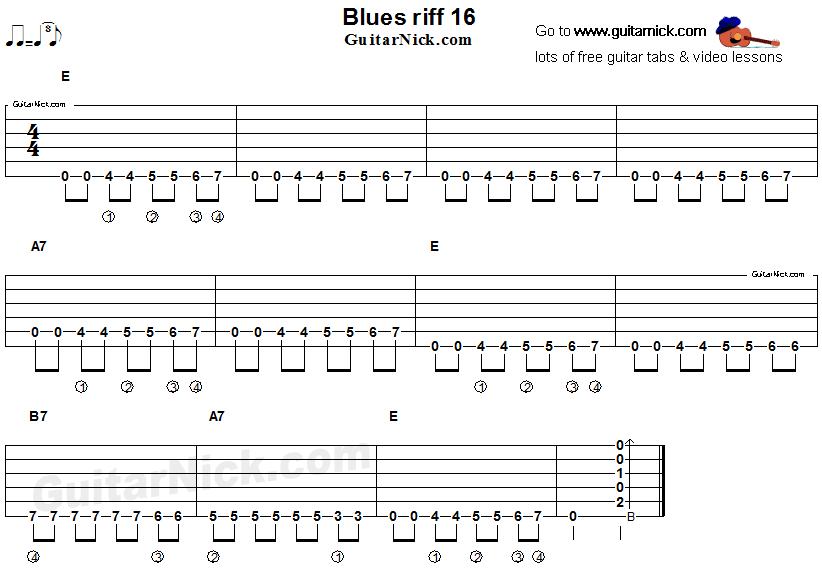 blues guitar riff 16 acoustic flatpicking. Black Bedroom Furniture Sets. Home Design Ideas