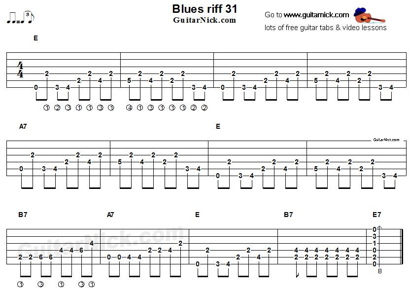 blues guitar riff 31 acoustic flatpicking. Black Bedroom Furniture Sets. Home Design Ideas