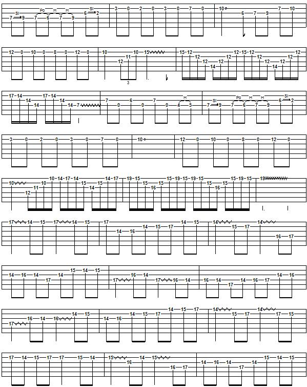 CANON ROCK (JerryC) Guitar Tab: GuitarNick.com