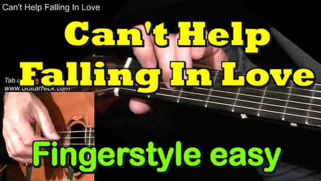 CAN'T HELP FALLING IN LOVE - fingerstyle guitar tab