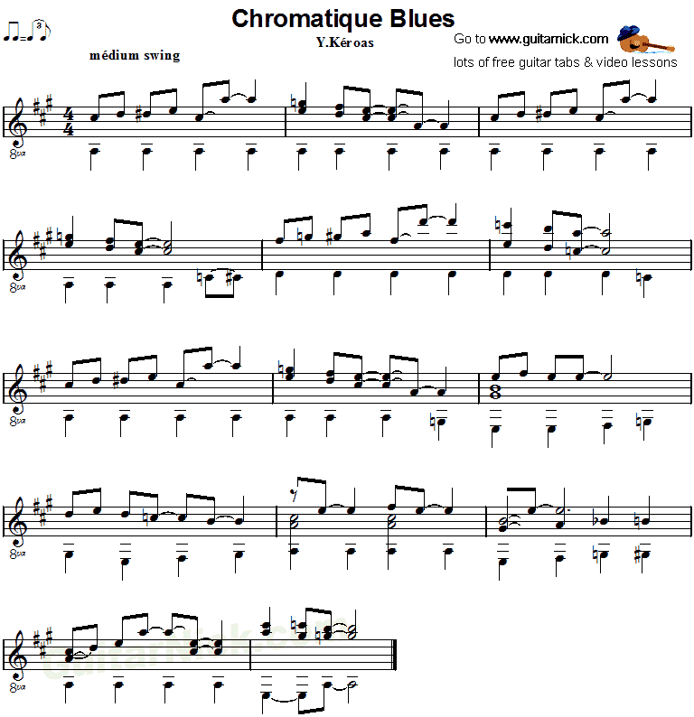 Chromatique Blues - Fingerstyle guitar sheet music