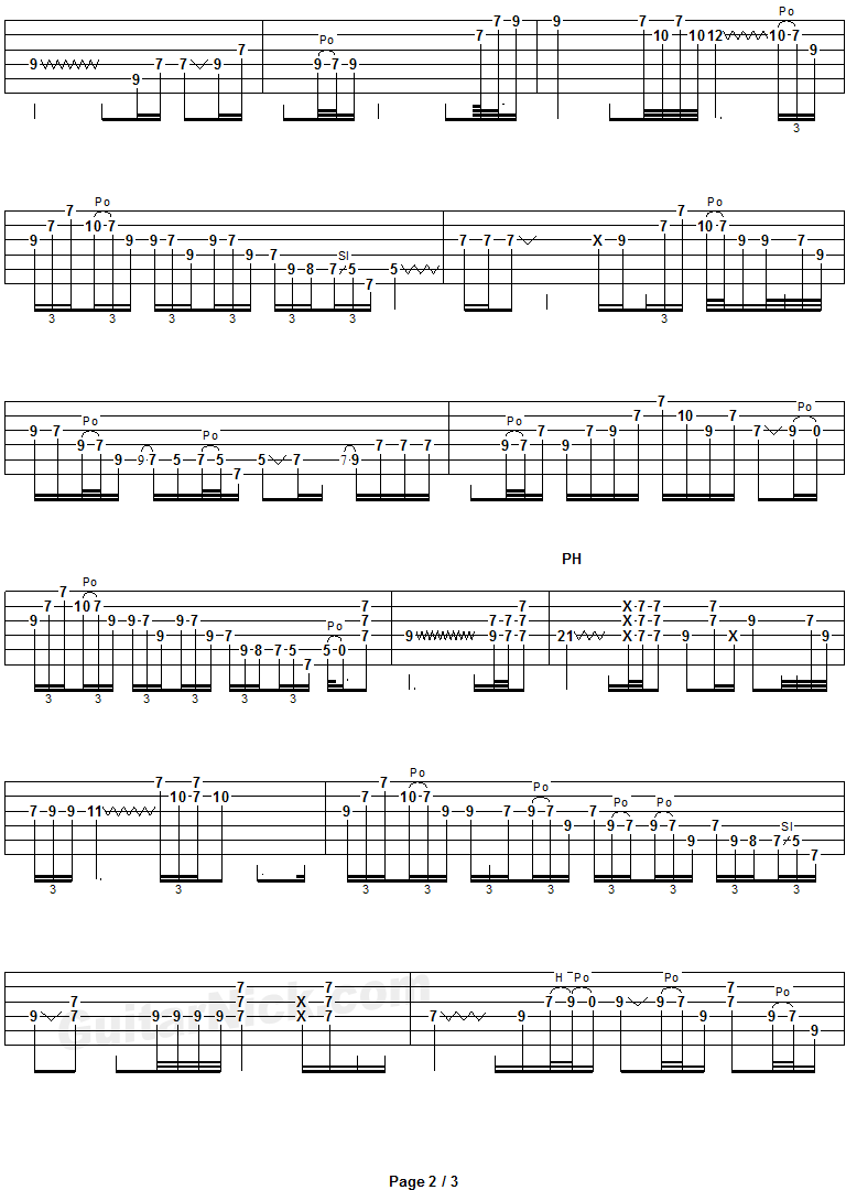 Comfortably Numb - guitar solo tab 2