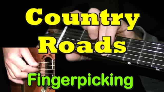 COUNTRY ROADS - fingerpicking guitar tab