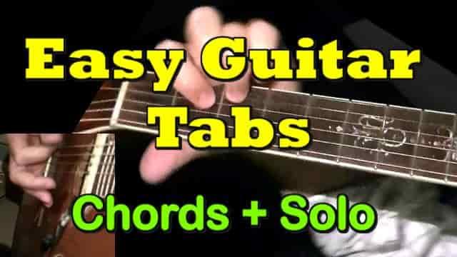100+ Easy Guitar Tabs, Beginners Songs - GuitarNick com