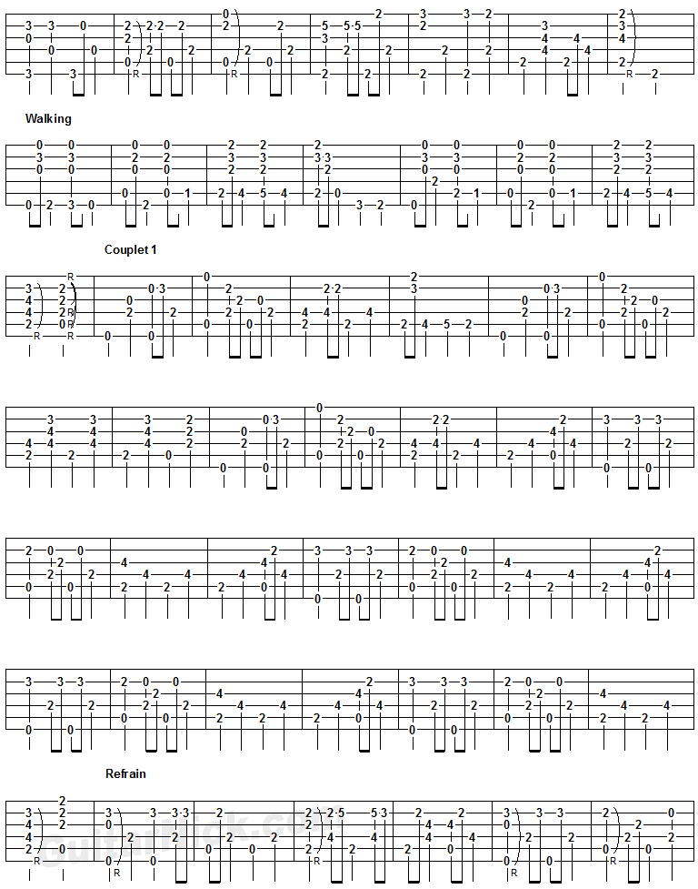 Englishman In New York- guitar tab 3