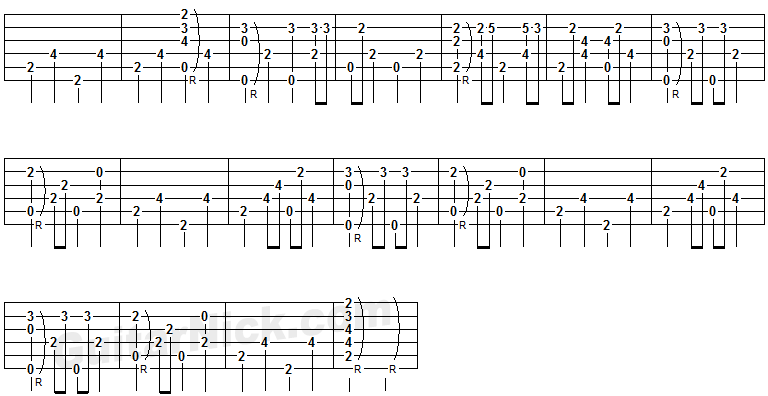 Englishman In New York- guitar tab 4