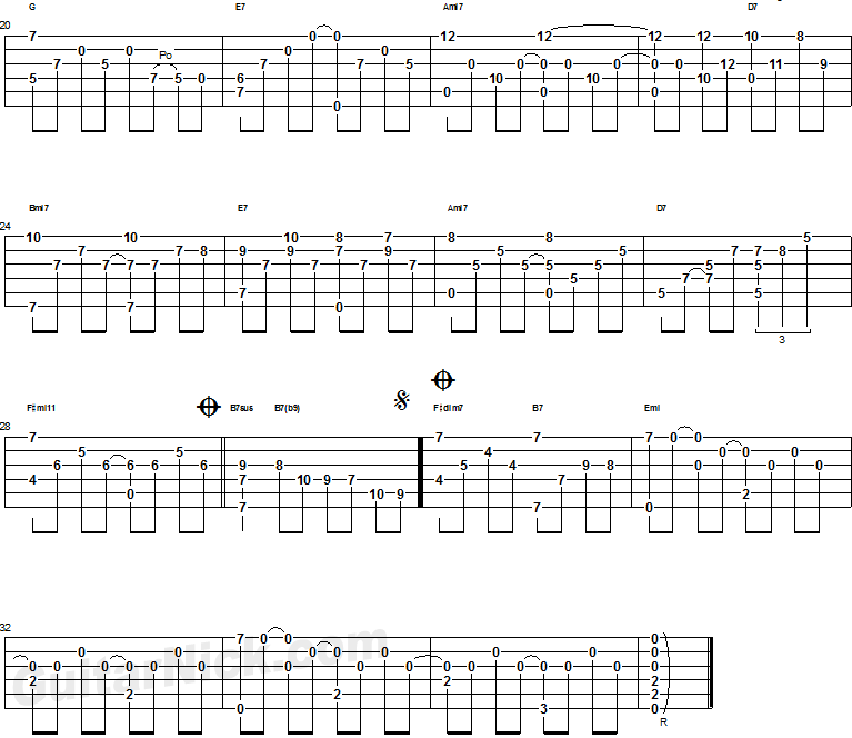 Feelings - guitar tab 2