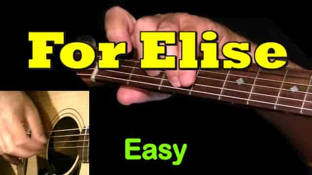 FOR ELISE - Easy Guitar Tab