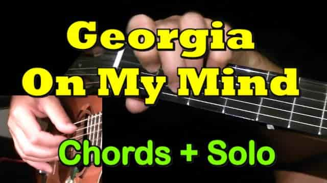 GEORGIA ON MY MIND - easy guitar tab