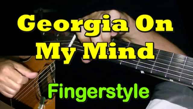 GEORGIA ON MY MIND - fingerstyle guitar tab
