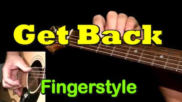GET BACK - fingerstyle guitar tab