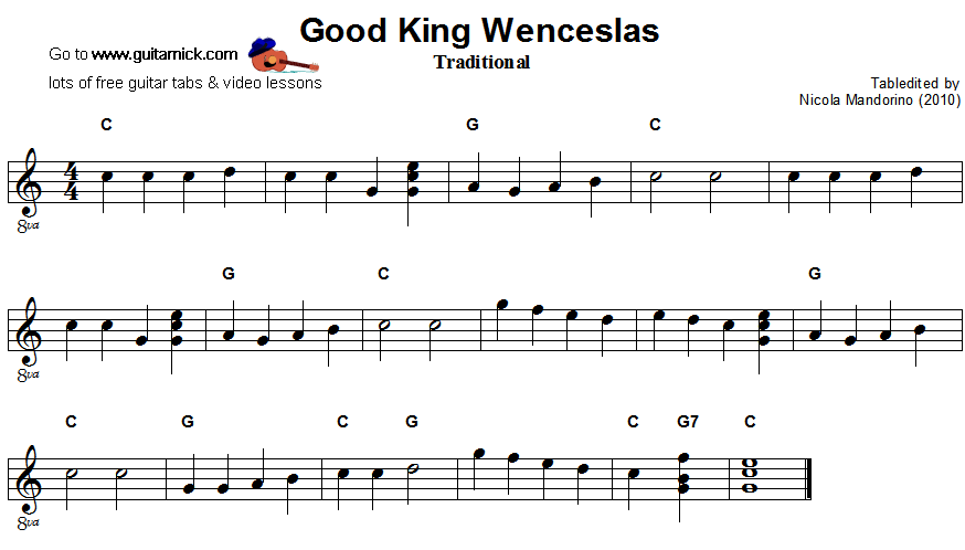 Ukulele ukulele tabs good king wenceslas : Guitar : best guitar tabs Best Guitar Tabs as well as Best Guitar ...