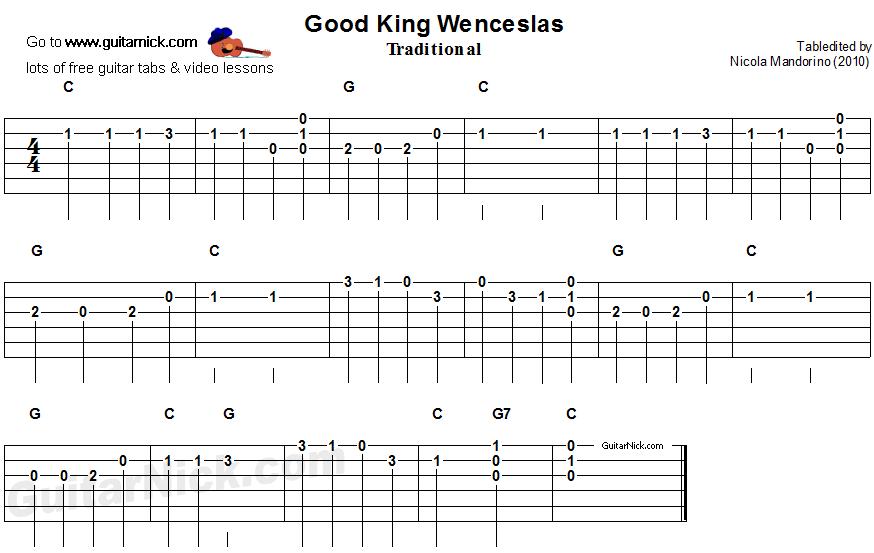 GOOD KING WENCESLAS Easy Guitar Lesson: GuitarNick.com