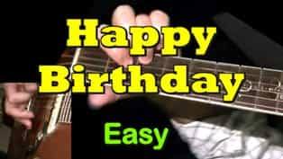 Happy Birthday to You - Easy Guitar Tab