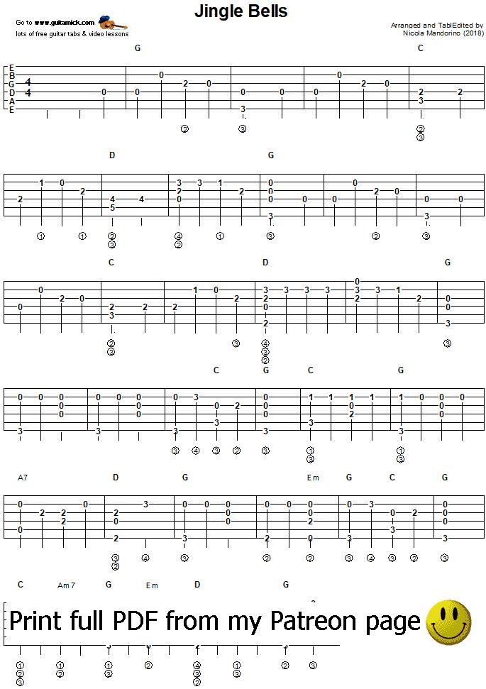 Jingle Bells Electric Guitar Chords : jingle bells fingerstyle guitar tab ~ Vivirlamusica.com Haus und Dekorationen
