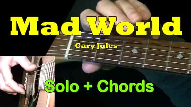 Mad World - Gary Jules | Easy Guitar Tab | Chords