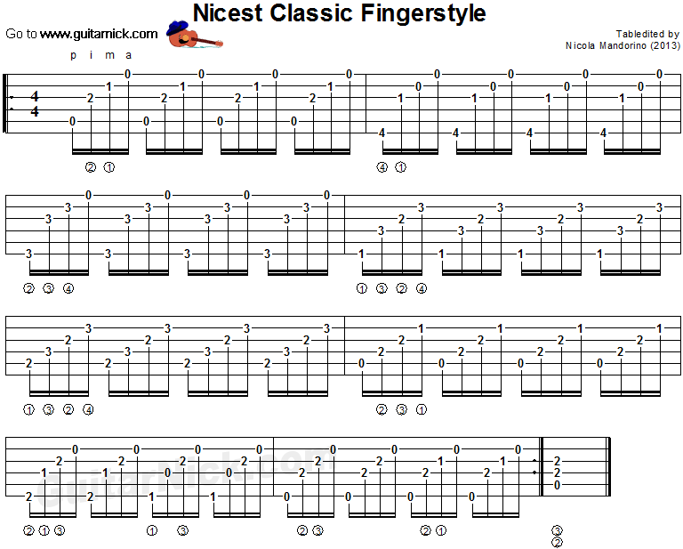 Nicest Classic Fingerstyle - classical guitar tab
