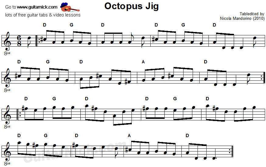 Octopus Jig - sheet music