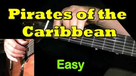 Pirates of the Caribbean - Easy Guitar Tab