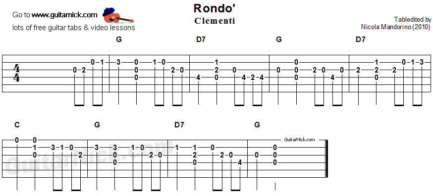A Groovy Kind of Love - easy guitar tablature