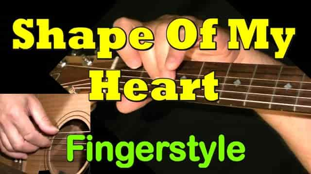 Shape Of My Heart (Sting) - fingerstyle guitar tab