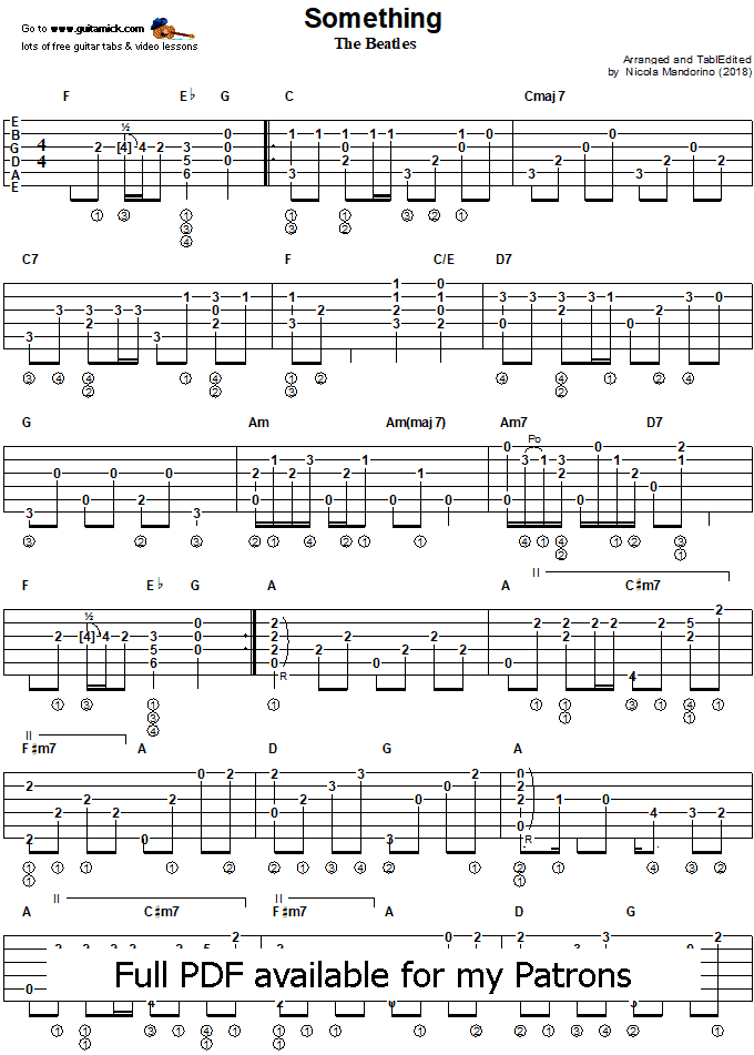 Something - Fingerstyle Guitar Tab