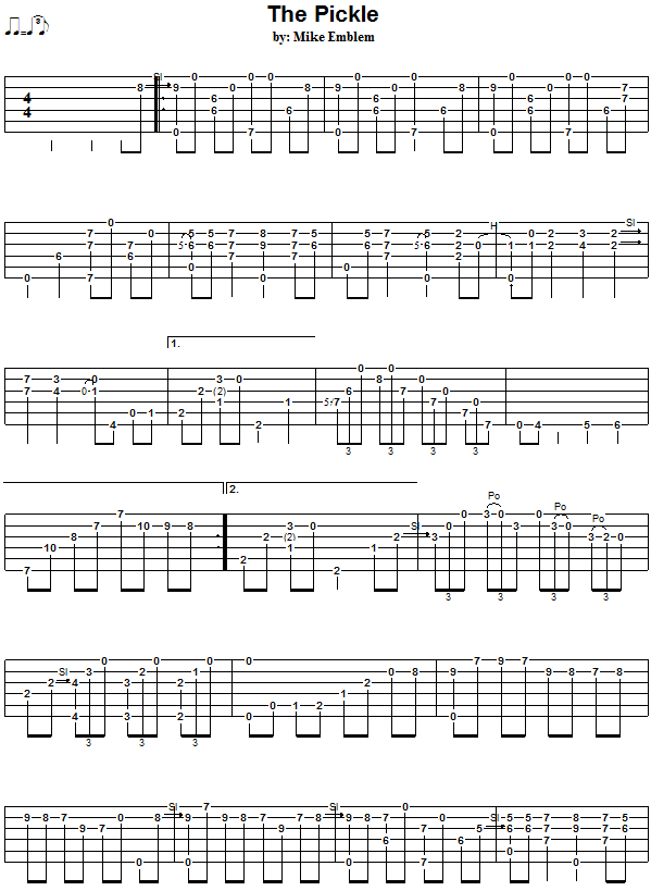 The Pickle - guitar tab 1