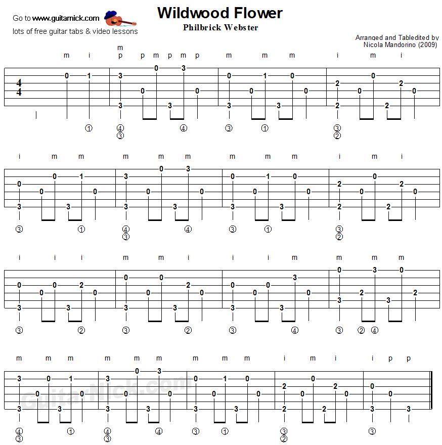 wildwood flower fingerpicking guitar lesson. Black Bedroom Furniture Sets. Home Design Ideas