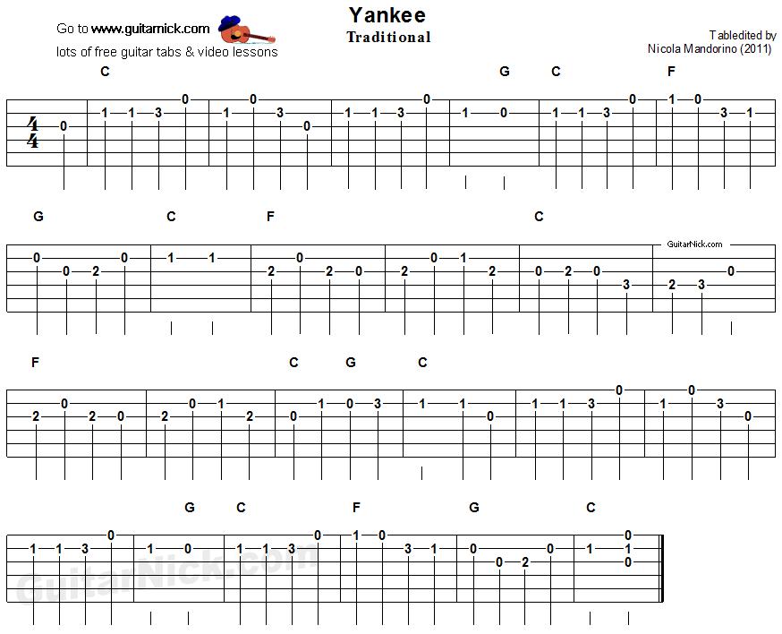 yankee doodle easy guitar lesson. Black Bedroom Furniture Sets. Home Design Ideas