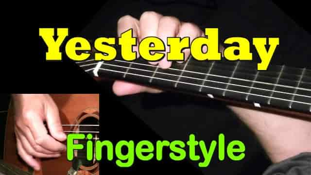 Yesterday (The Beatles) - fingerstyle guitar tab